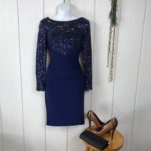 Ralph Lauren Dresses - Ralph Lauren blue cocktail dress size 4P